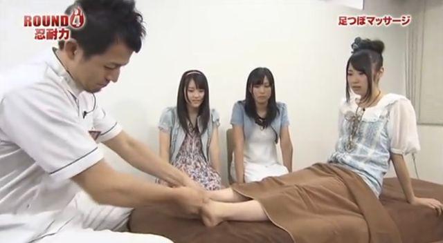 DVD撮影にてAKBのメンバーさんに施術を受けて頂きました。